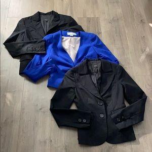 3 x blazers, Talula, H&M - Sz 2-4